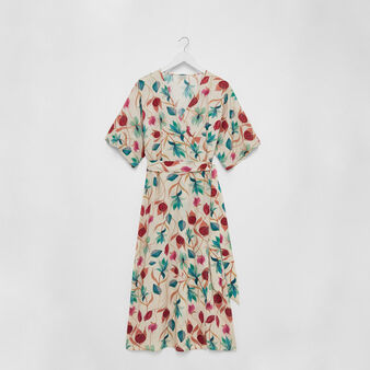 Viscose wrap dress with floral print