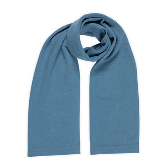 Solid color cashmere scarf