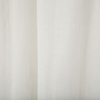 Solid colour linen blend curtain with hidden loops