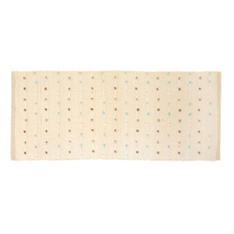 Cotton bath mat with knots