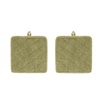 2-pack stonewashed pot holders in 100% cotton