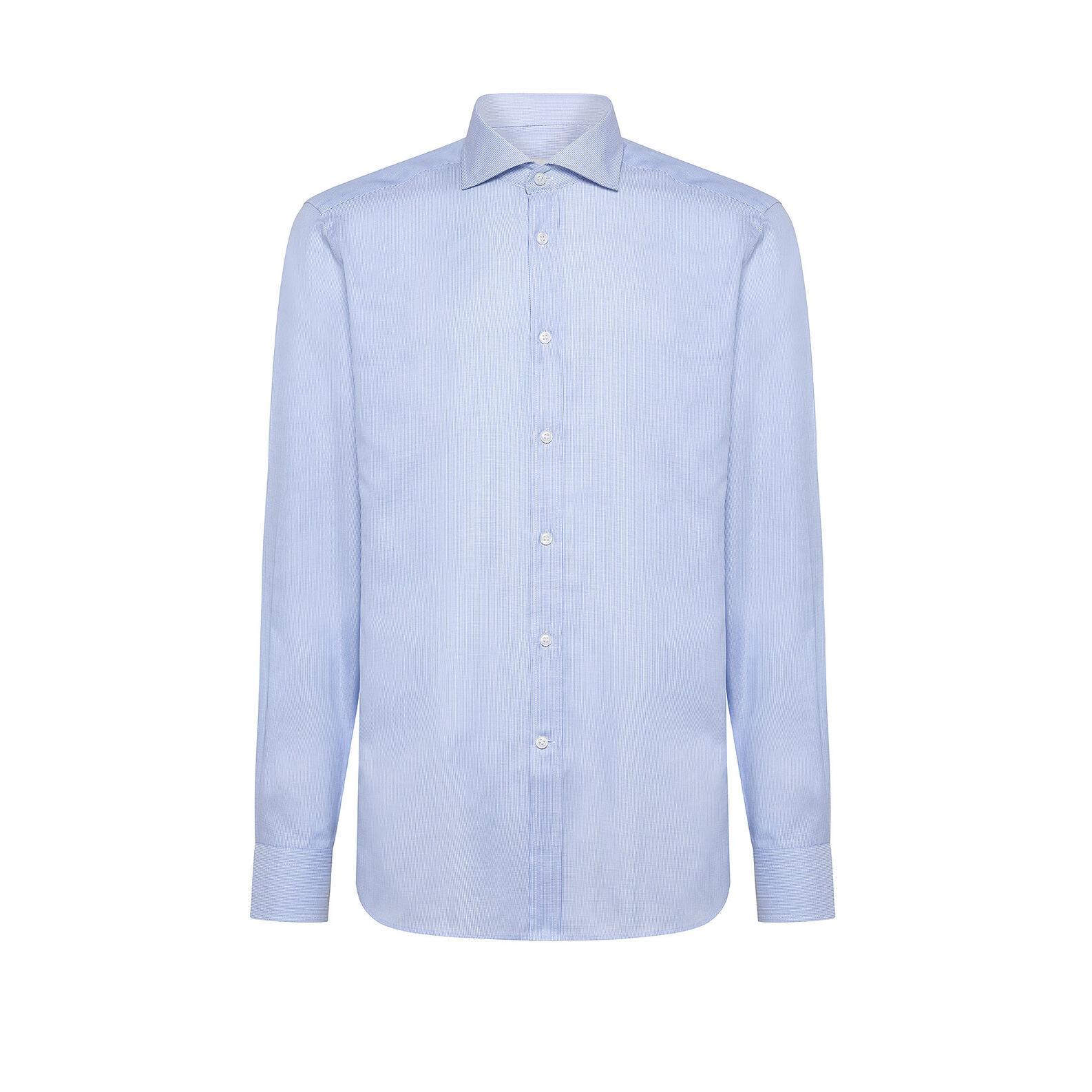 Regular-fit cotton shirt with cutaway collar
