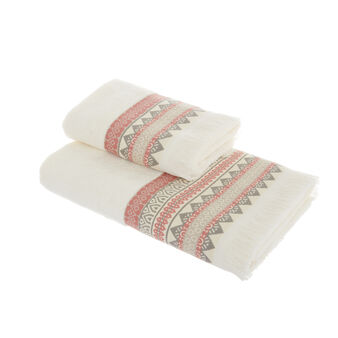 100% cotton towel with jacquard border