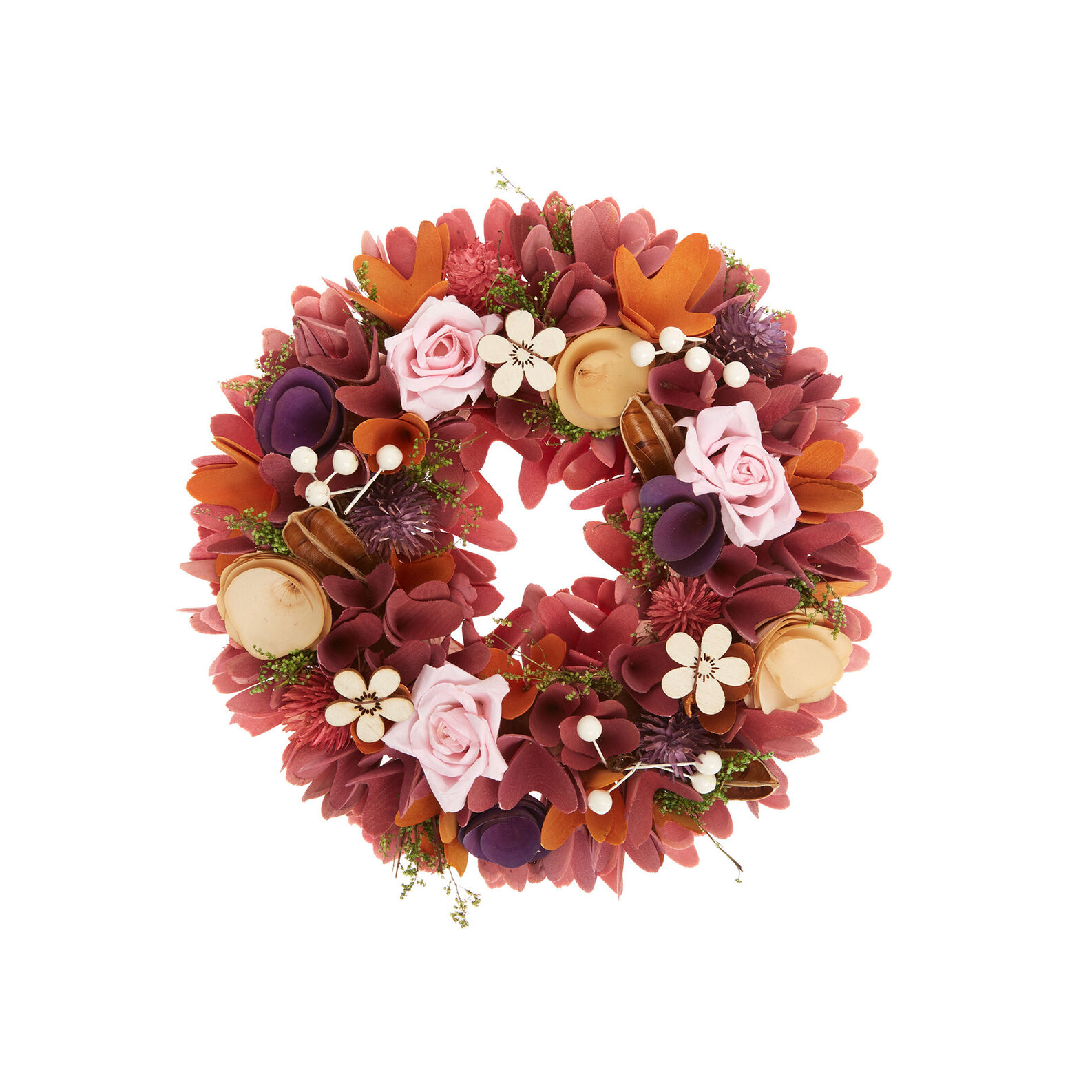 Decorative wreath in balsa wood