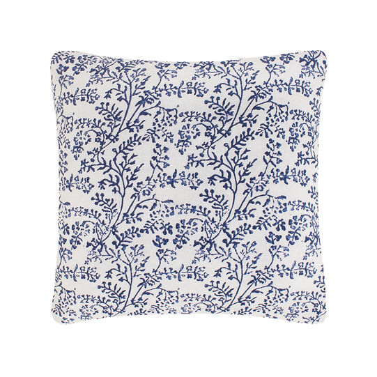 Cuscino cotone ramage block print