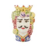 Arabesque Moorish Head by Ceramiche Siciliane Ruggeri