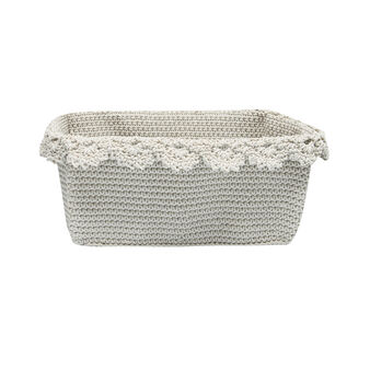 Crocheted square basket