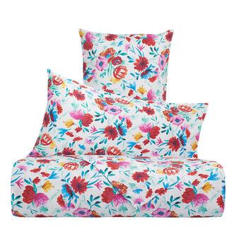 Floral bed linen set in 100% cotton