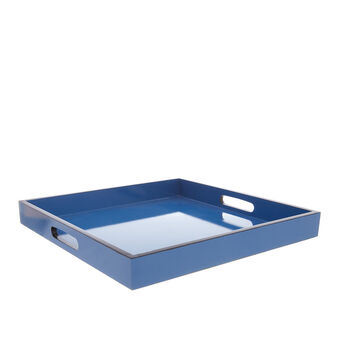 Square tray with contrasting edge