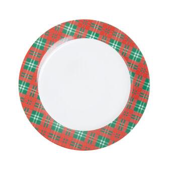 Tartan porcelain serving dish