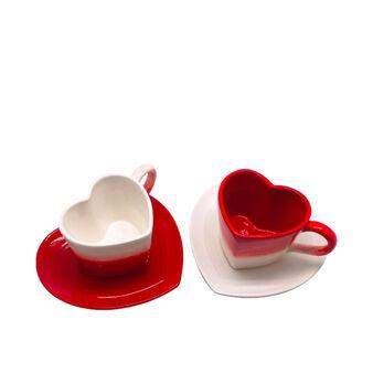 Tazze tè ceramica a cuore
