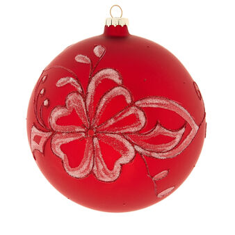 Hand-decorated large flower bauble