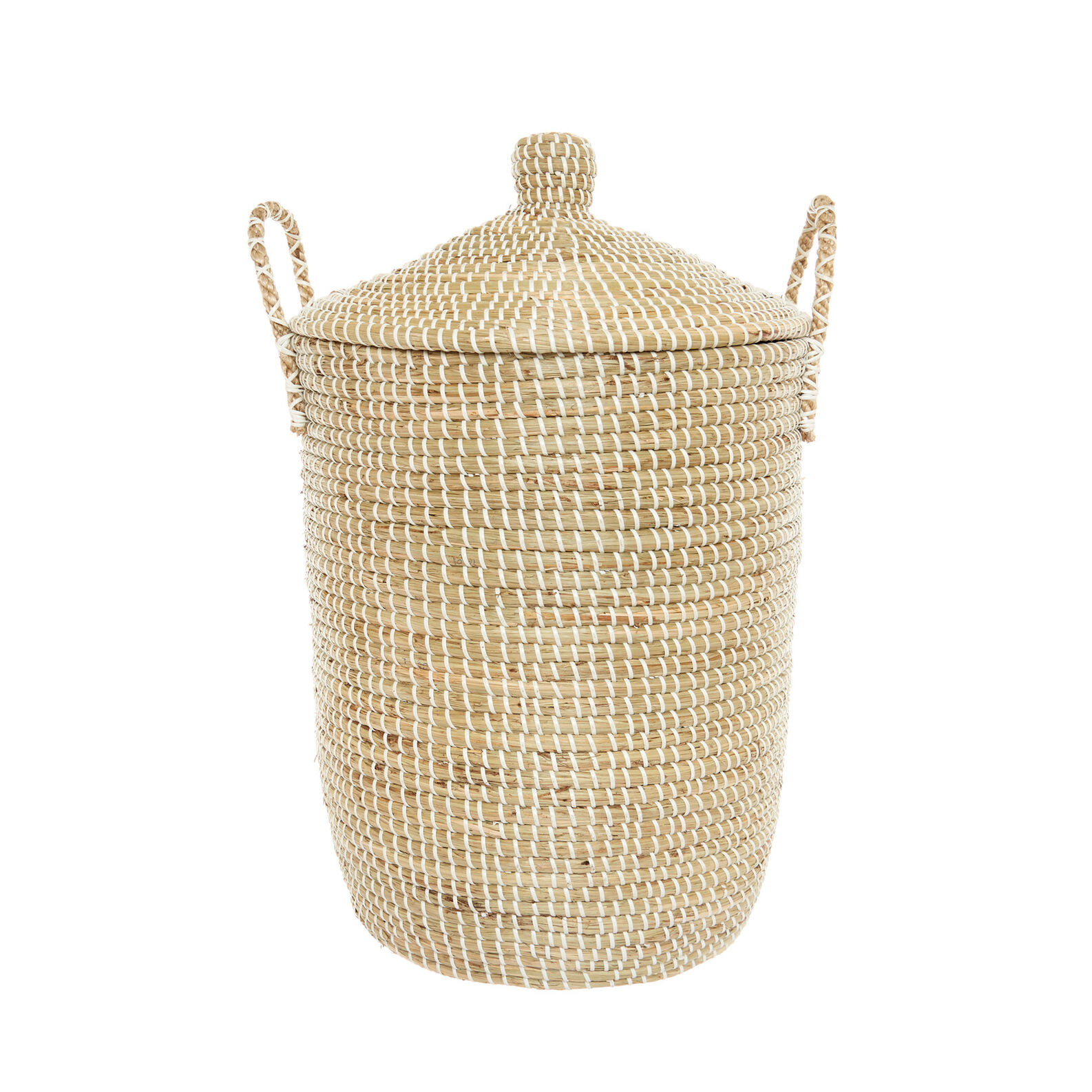 Handmade seagrass laundry basket