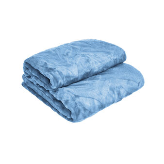 Plain fleece throw