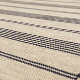 Hand-woven cotton rug with stripes