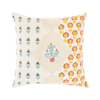 Cushion with chenille applications