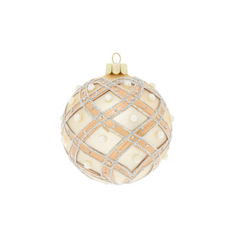 Hand-decorated diamond bauble