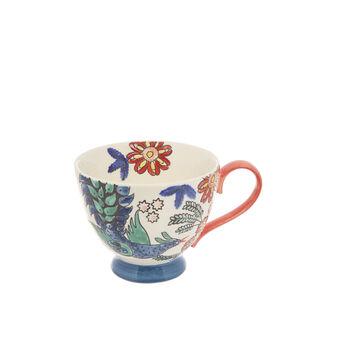 Tazza da colazione stoneware dipinta a mano