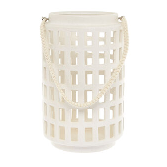 Ceramic lantern with rope handle