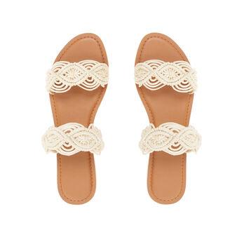 Flat macramé sandals