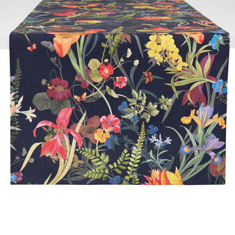 100% cotton table runner made in Europe with floral print