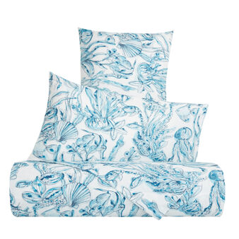 Organic cotton duvet cover with marine pattern