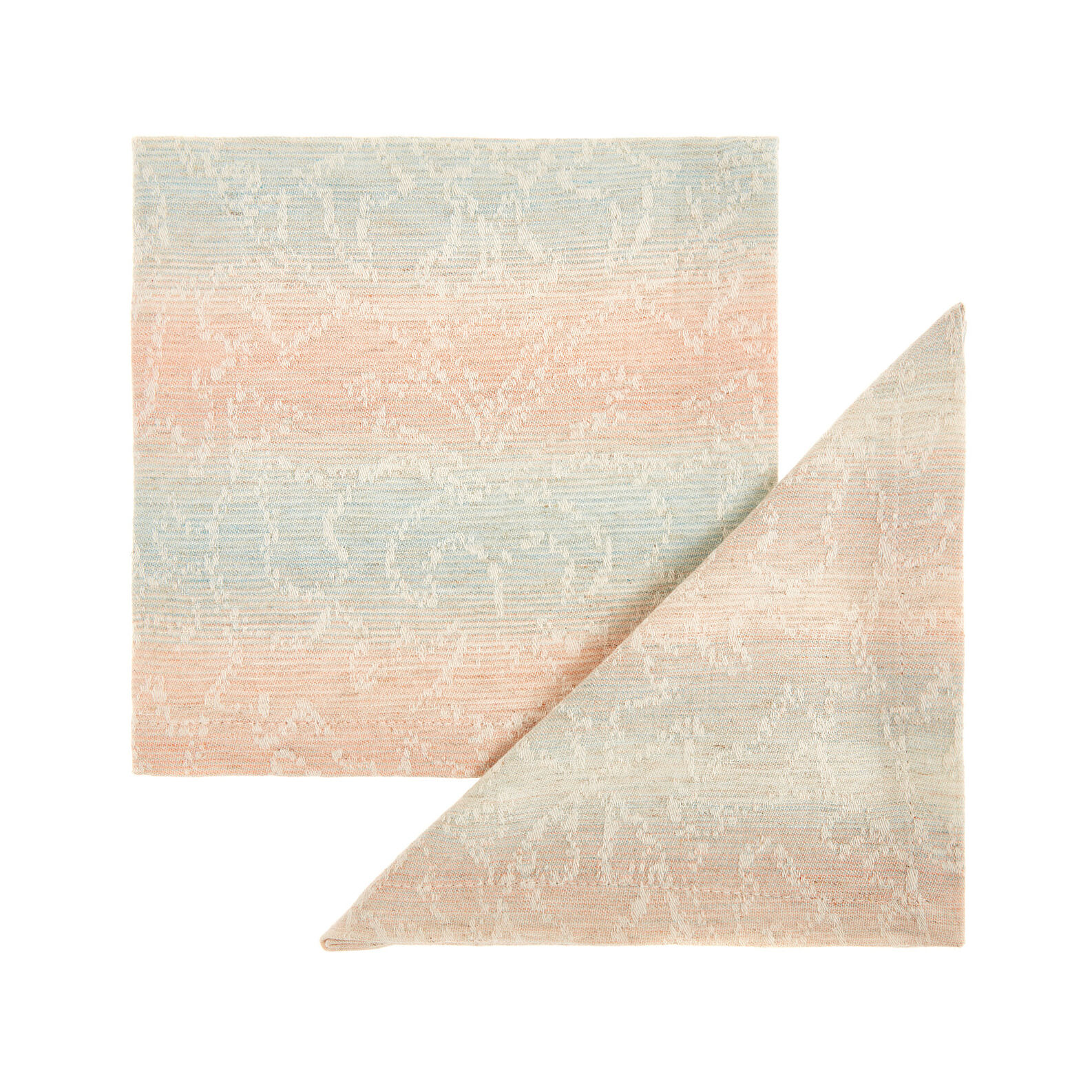 Set of 2 napkins in stonewashed cotton blend with striped motif