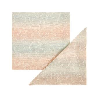 Set 2 tovaglioli misto cotone stonewashed motivo a righe