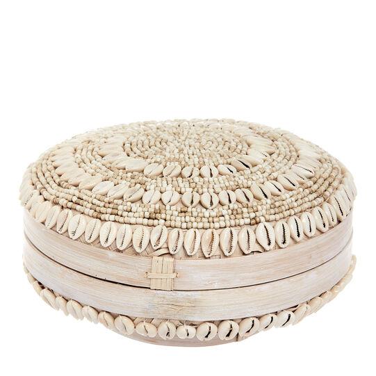 Box in bamboo decorato a mano con conchiglie