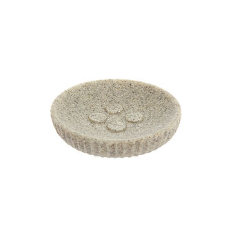Sand stone-effect soap dish
