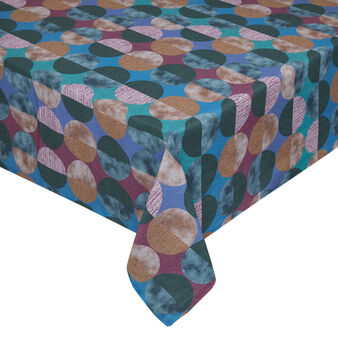 Cotton twill tablecloth with circles print