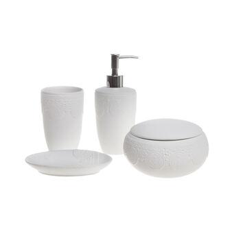 Lace design ceramic bathroom set