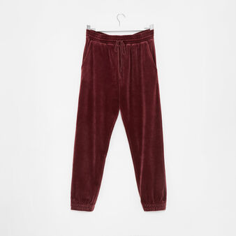 Pantalone in velluto tinta unita