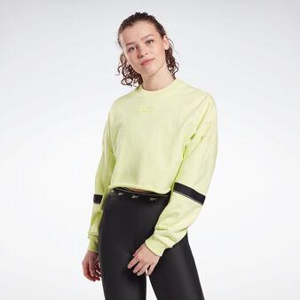 Crop sweatshirt with round neck