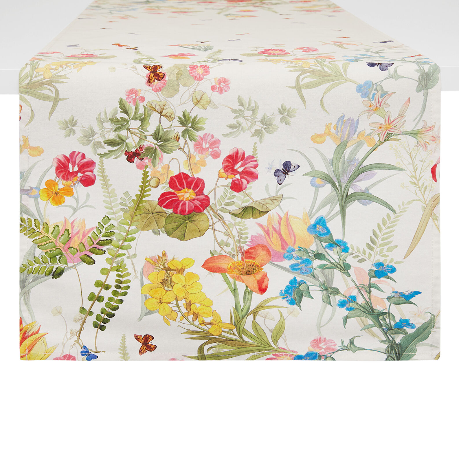 Pure cotton floral print runner