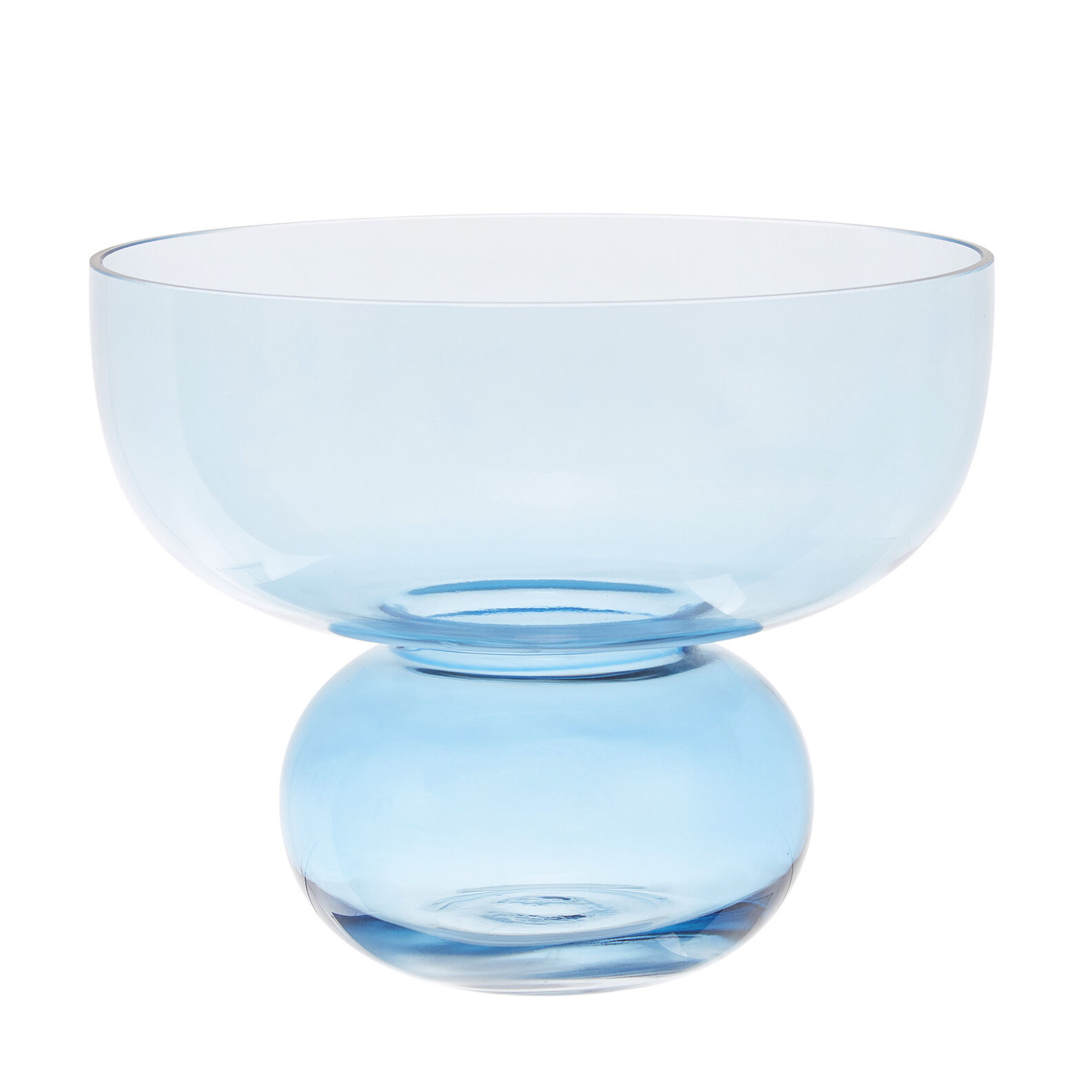Hand-finished glass vase