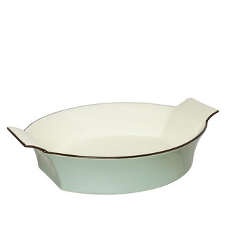 Two-colored stoneware baking dish