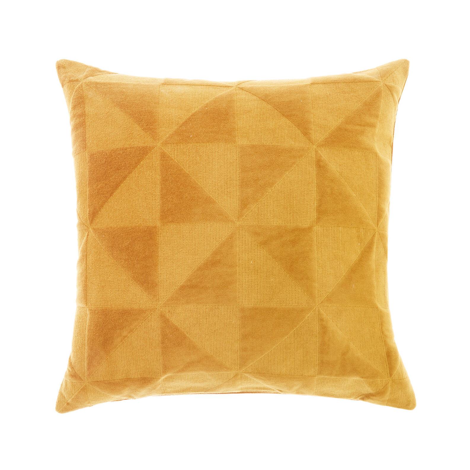 Velvet triangles cushion 45x45cm