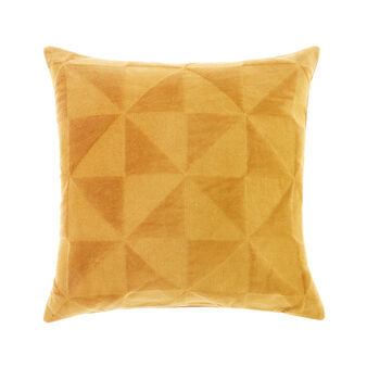 Velvet triangles cushion 45x45cm