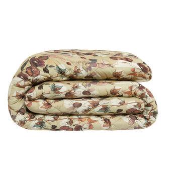 Cotton satin quilt with flower pattern