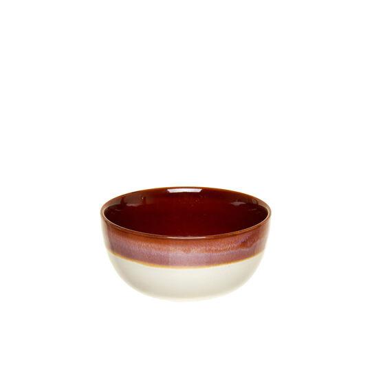 Coppetta stoneware bicolore lavorata