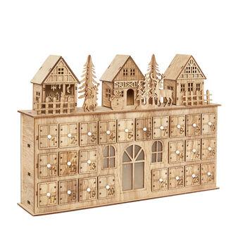 Calendario dell'avvento in legno di balsa