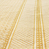 Cotton mat with jacquard weave
