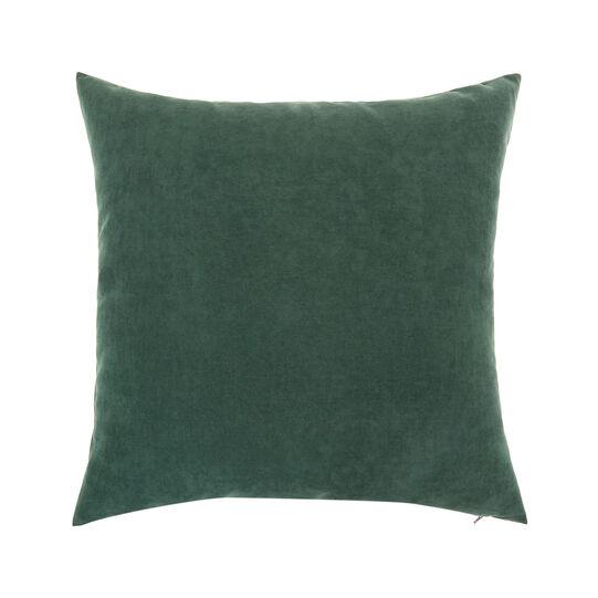 Velvet cushion with floral print (50x50cm)