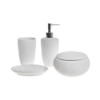 Lace design ceramic bathroom set