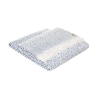 Plaid puro cotone con frange
