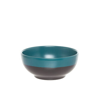 Small ceramic bowl with green line