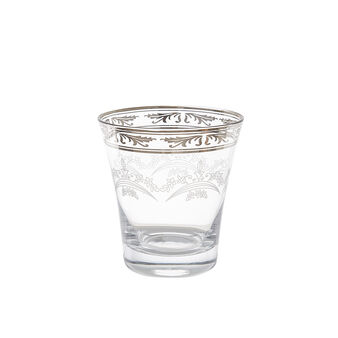 Glass tumbler with decoration