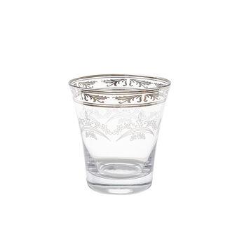 Bicchiere in vetro con decoro