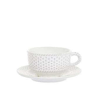 Isabel antiqued ceramic tea cup